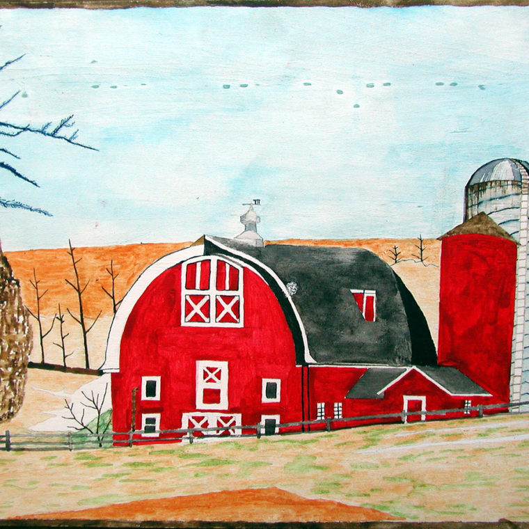 Johann LeRoux. Red Barn.