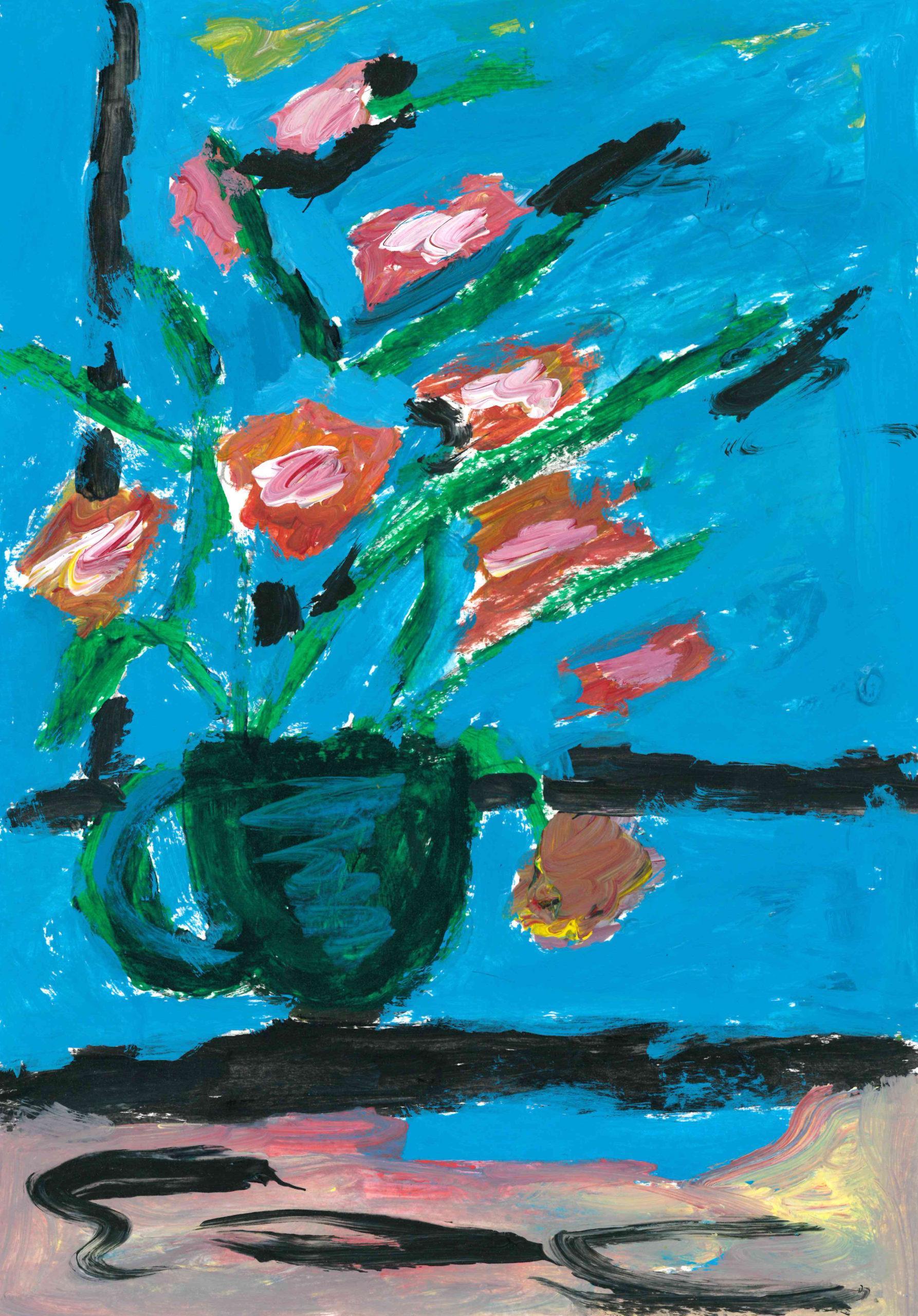 Vase of flowers painting by Mary Galgay