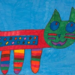 Untitled (Rainbow Cat)