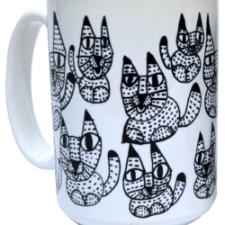 Cat mug - white bkgd