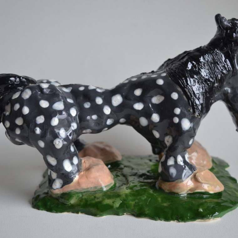 Colleen McFarland. Speckled Horse. Ceramic. 2018.