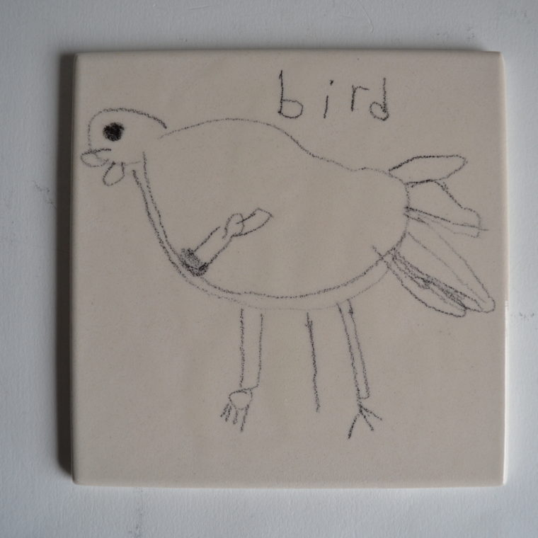 Janet Inman. Bird. Ceramic tile. 2019.