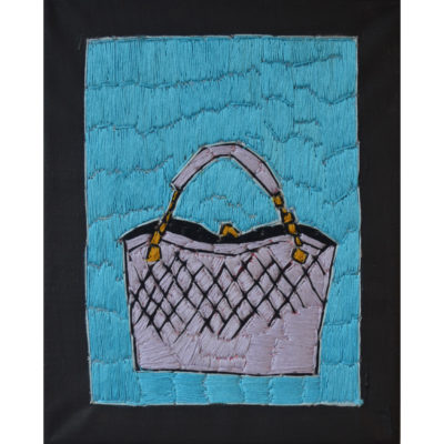 Handbag embroidery by Alison Doucette