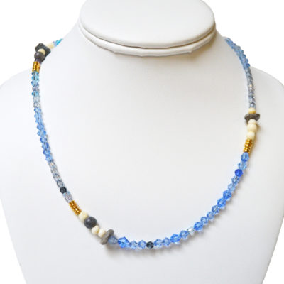 Blue strand necklace by Amy Caliri