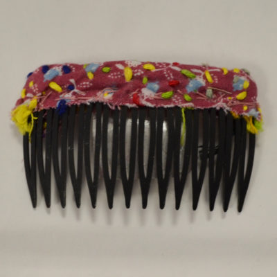black and pink hair comb by Amy Caliri
