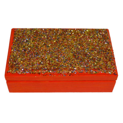 Orange box with glitter by Andrew Granger