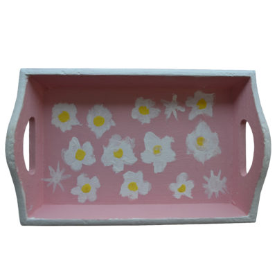 Pink flower tray by Ashley Barbour