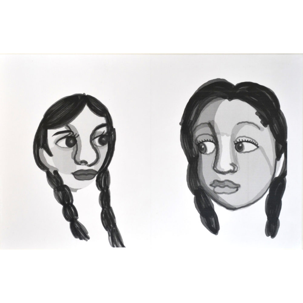 Untitled drawing (two portraits) by Ashley Barbour