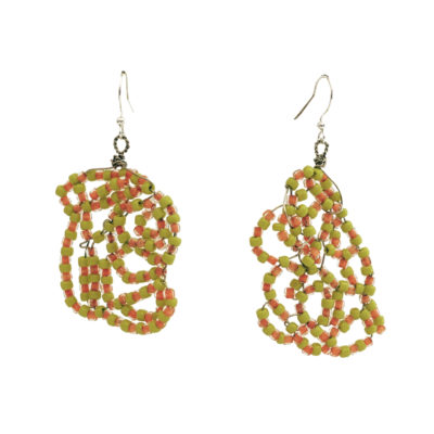 Ashley Barbour. Wire cluster bead earrings