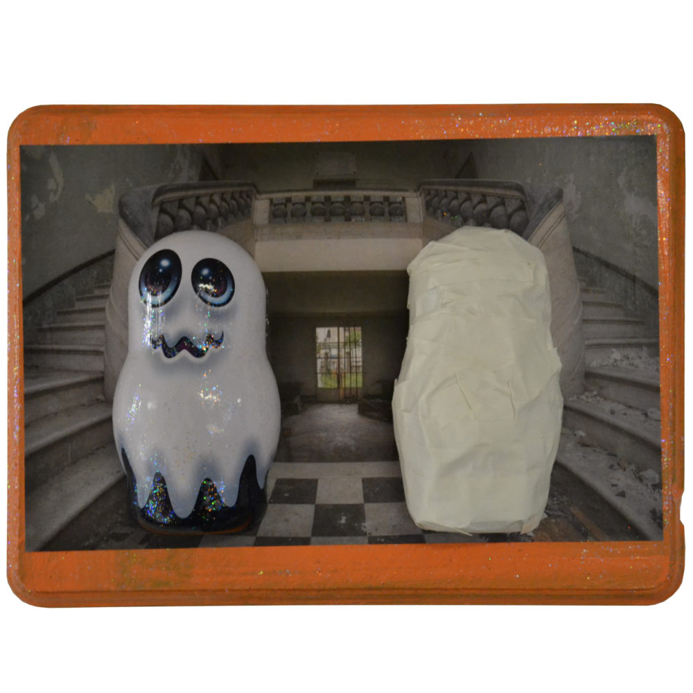 Ghost assemblage by Ashley Barbour