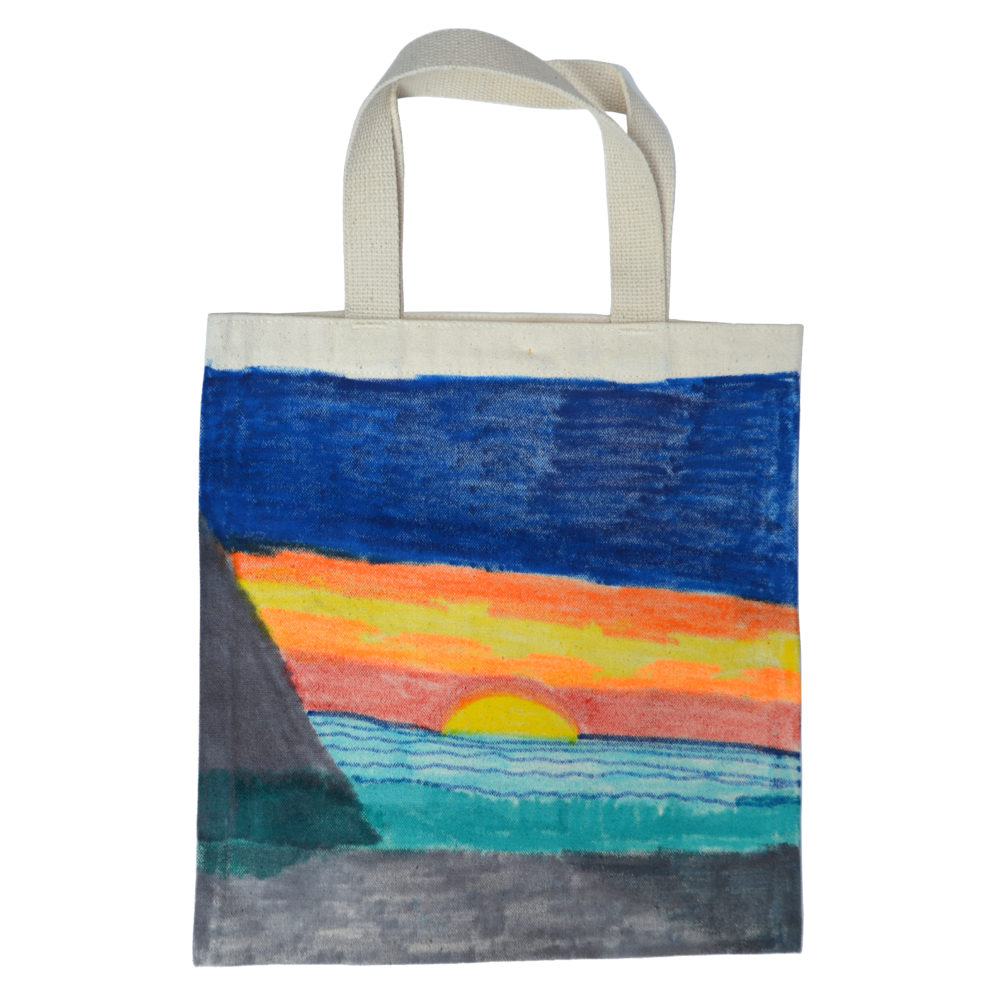 Mini sun/moon tote by Ashley Barbour