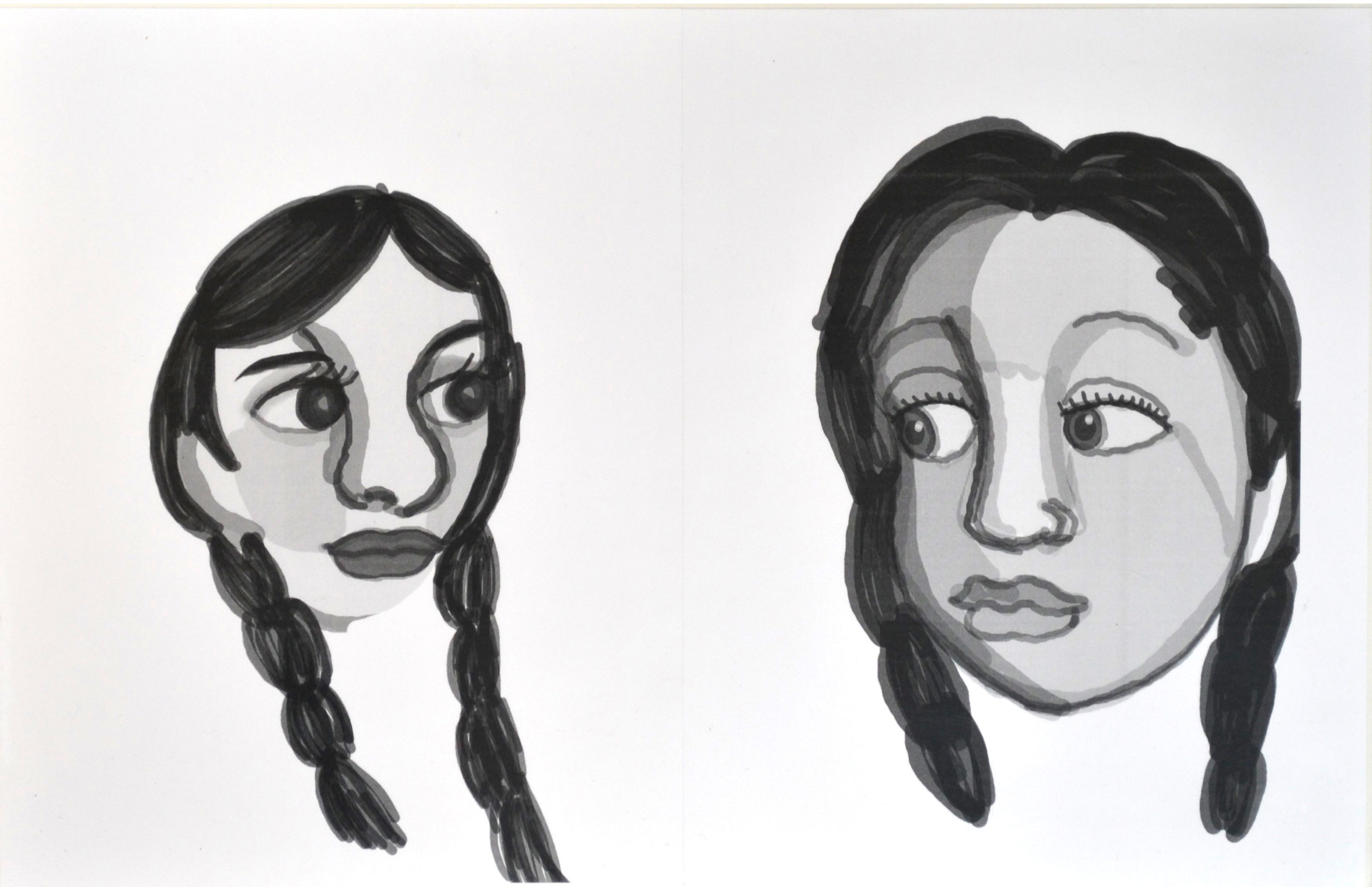 Untitled (two portraits) by Ashley Barbour