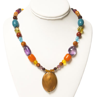 Multicolored necklace by Barbara Brown