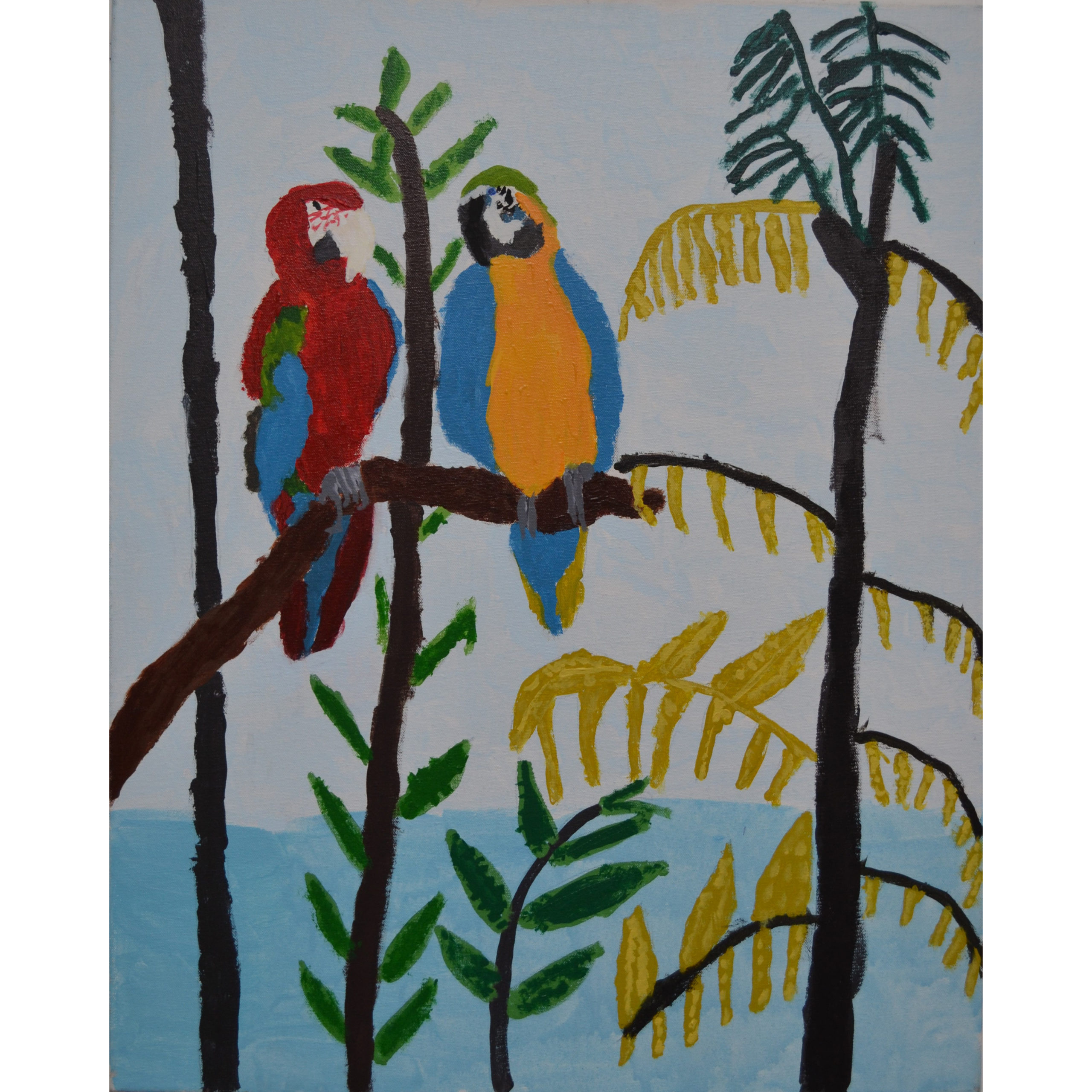 Untitled (Parrots) by Barbara Brown