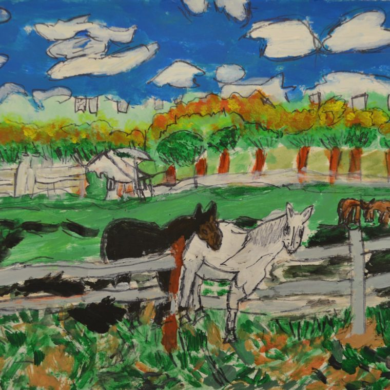 Untitled (horses) by Barbara Brown
