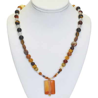 Earth Tones necklace by Barbara Brown
