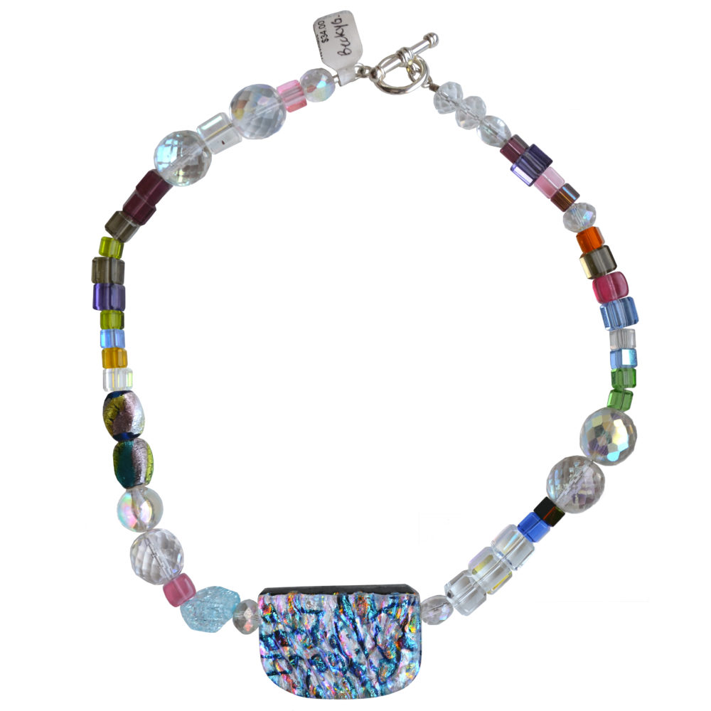 Rebecca Geller. Glass beads necklace