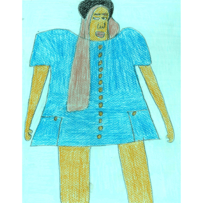 Spring drawing 1 (person) by Debra Belsky