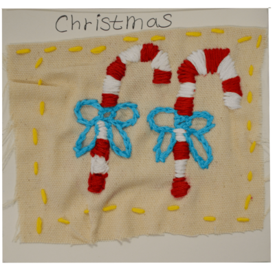 Candy canes Christmas card by Betty Antoine
