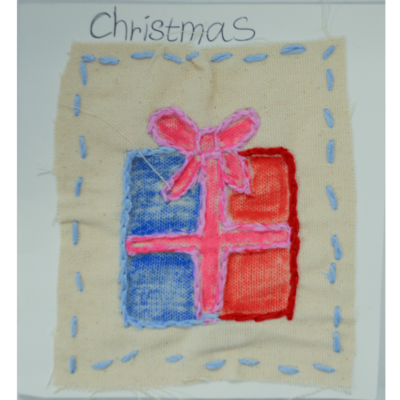 Christmas card (present) by Betty Antoine