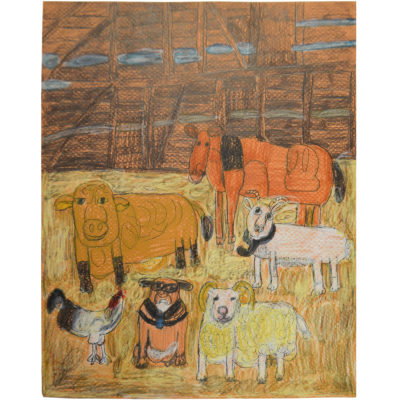 Untitled (farm animals) by Betty Antoine