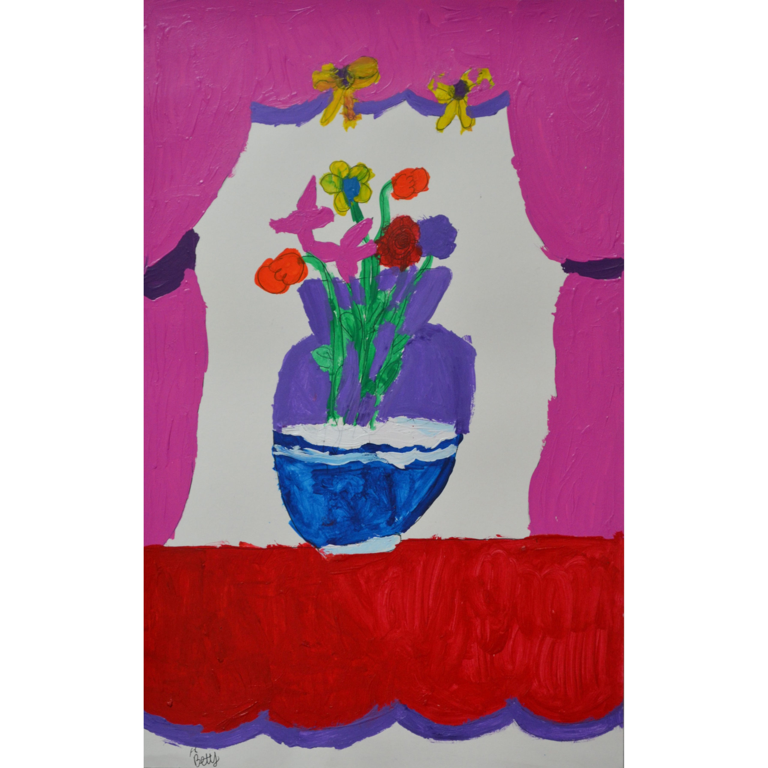 Untitled (vase and drapes) by Betty Antoine