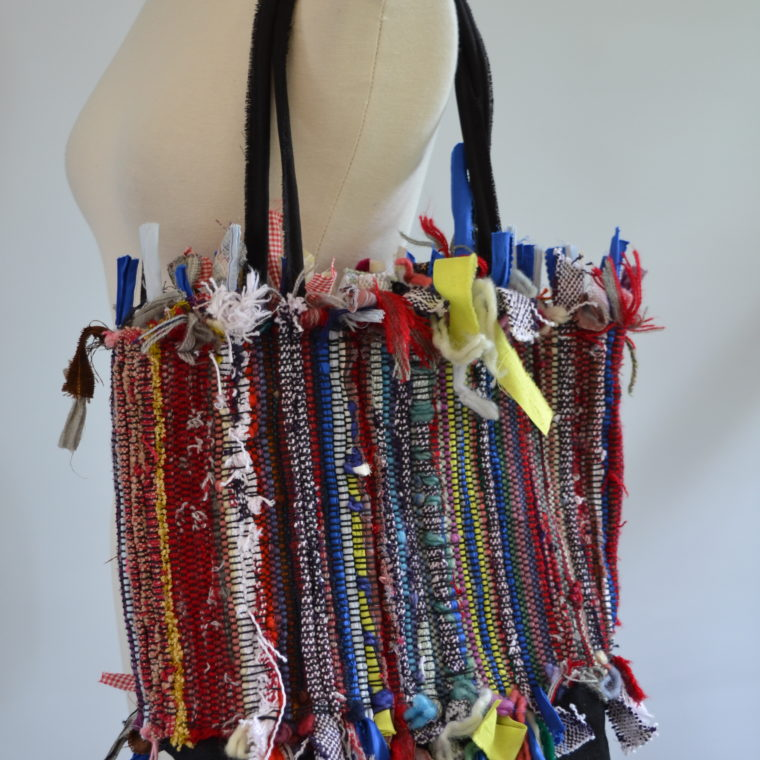 Betty Antoine. Abstract tote bag. Recycled fibers. 2019.