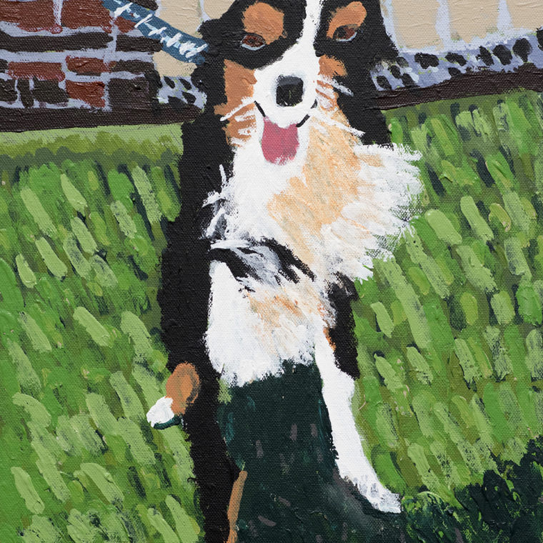 Barbara Brown. Dog. Acrylic on canvas. 2018.