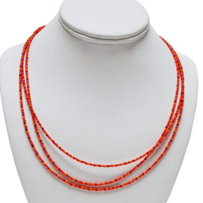 Three Orange Strands by Carmella Salvucci