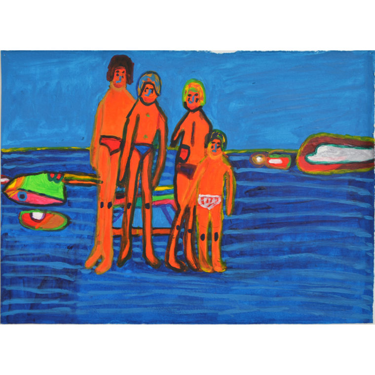 Untitled bathers by Carmella Salvucci