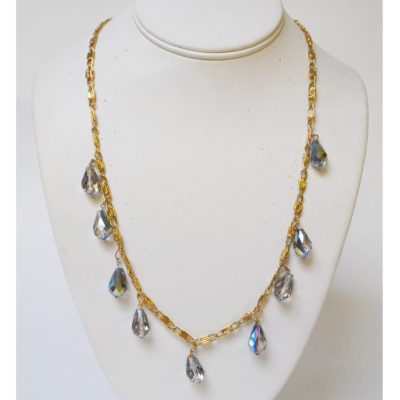 Dangling diamonds necklace by Carmelle Jean