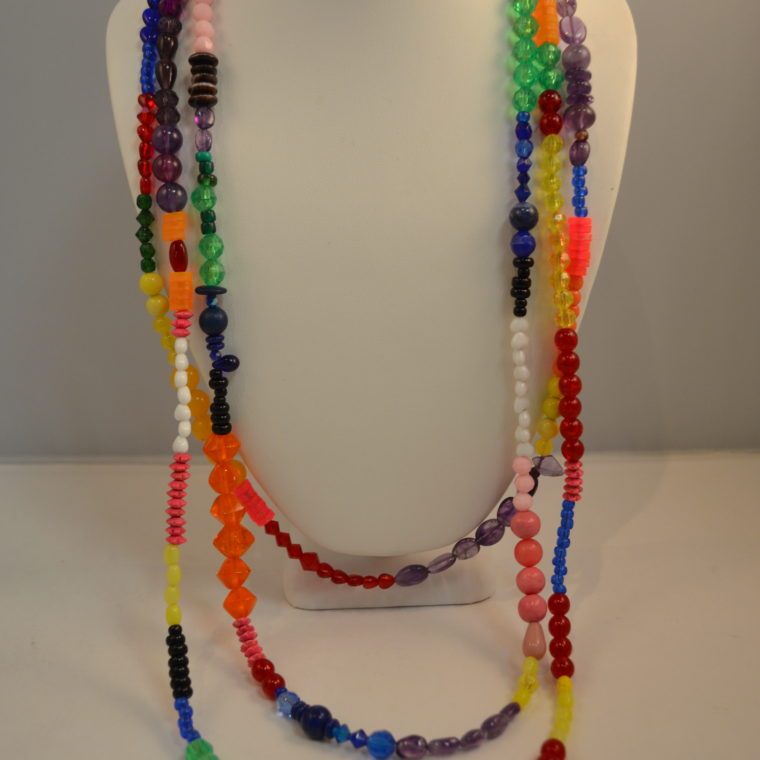 Rainbow necklace by Lucy Watkins.