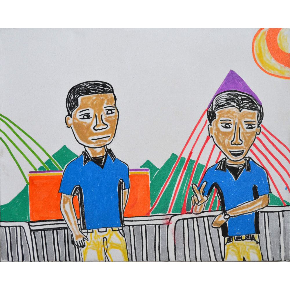 Untitled (2 guys at carnival) by Darryl Brooks