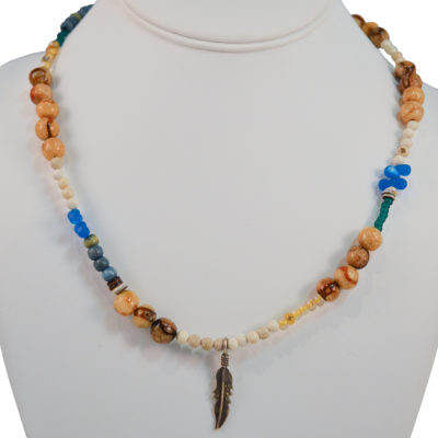 Feather necklace by David O'Toole