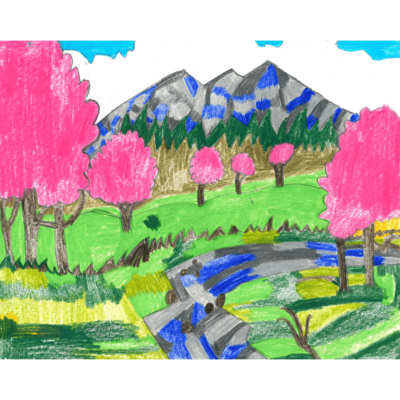 Spring Drawing 1 (landscaoe) by David O'Toole