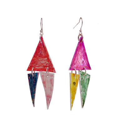 Dominic Tufo. Polystyrene earrings