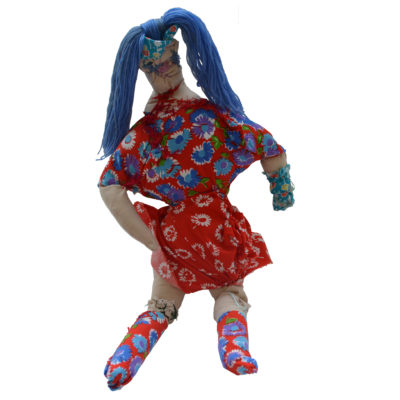 Doll with red dress by Dominic Tufo
