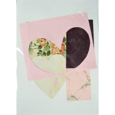 Valentine collage card by Dominic Tufo