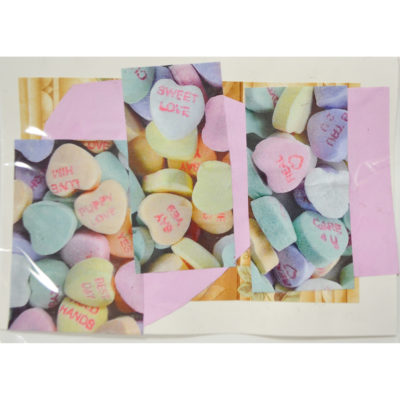 Sweethearts Valentine collage card by Dominic Tufo
