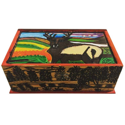 Elk jewelry box by Donna Esolen
