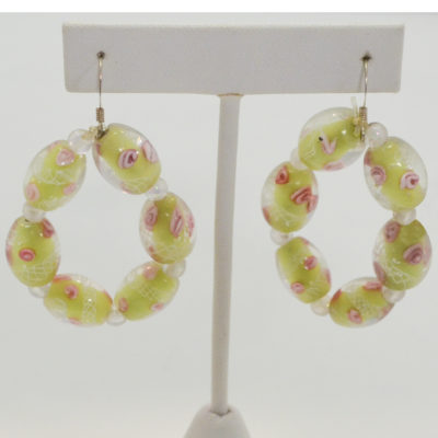 Lime ring earrings by Ella Williams
