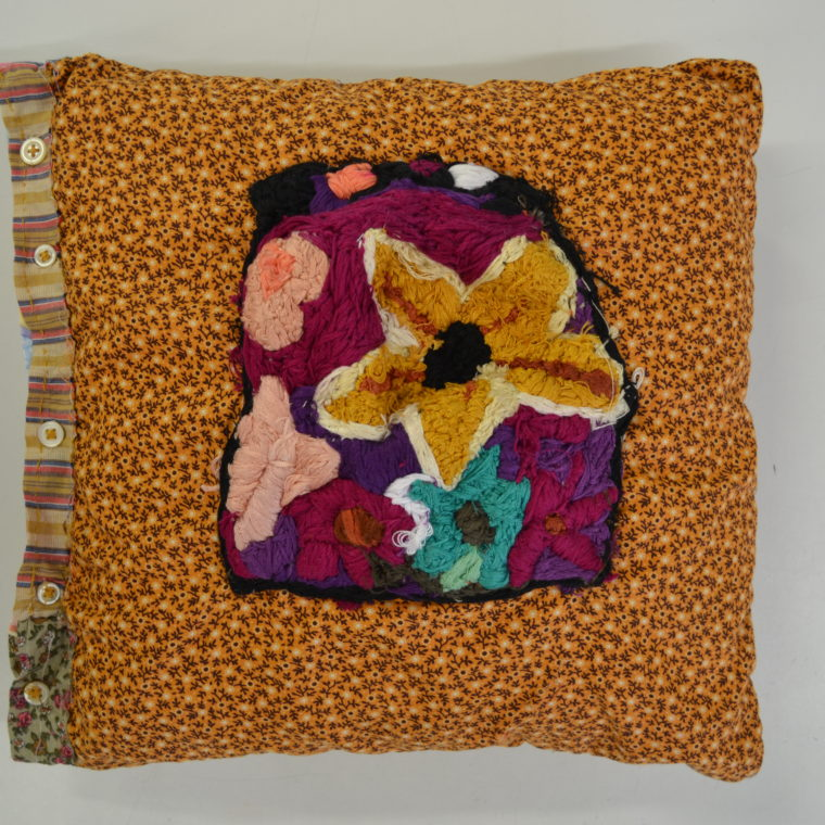 Farah Faustin. Embroidered handmade pillow. 2018.