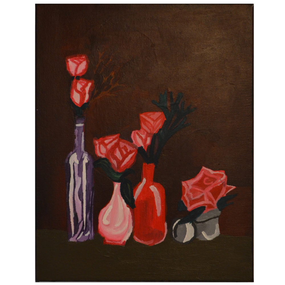 Vases painting by Farah Faustin