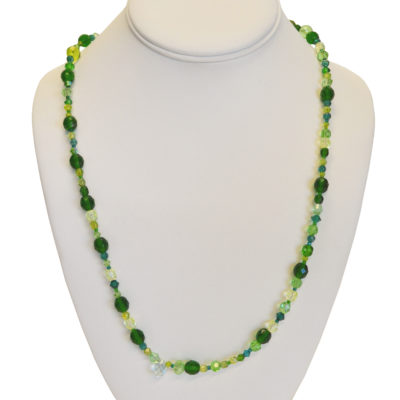 Green necklace by Farah Faustin