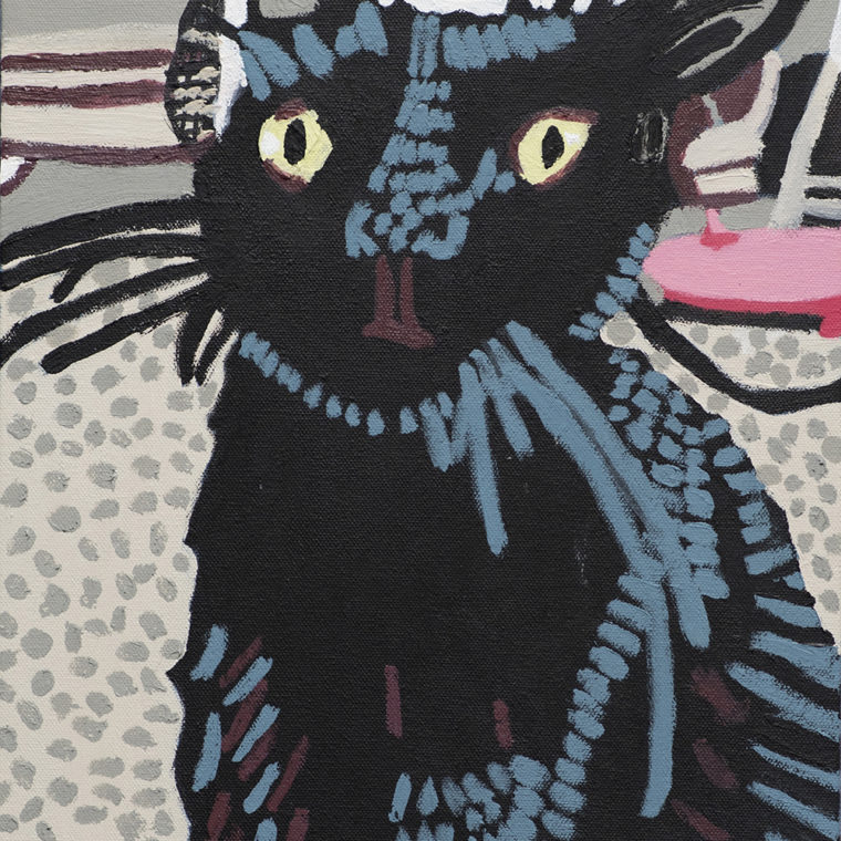 Beatrice Farah. Cat. Acrylic. 2018.