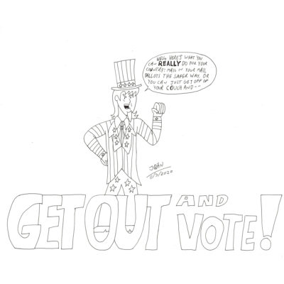 Get Out and Vote drawing by Giovanni Ricci