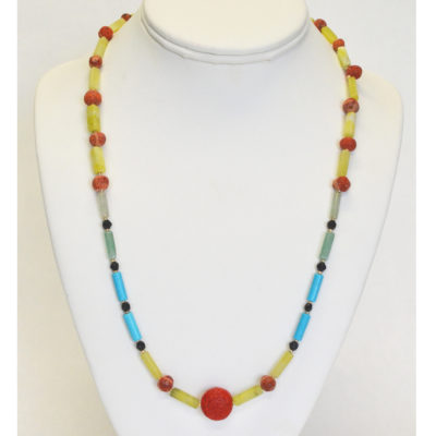 Red center point necklace by Giovanni Ricci