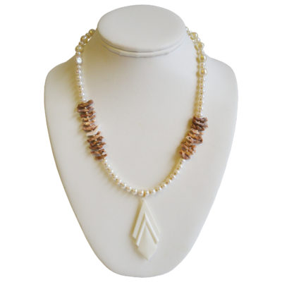 Birds, pearls, art deco necklace by Giovanni Ricci