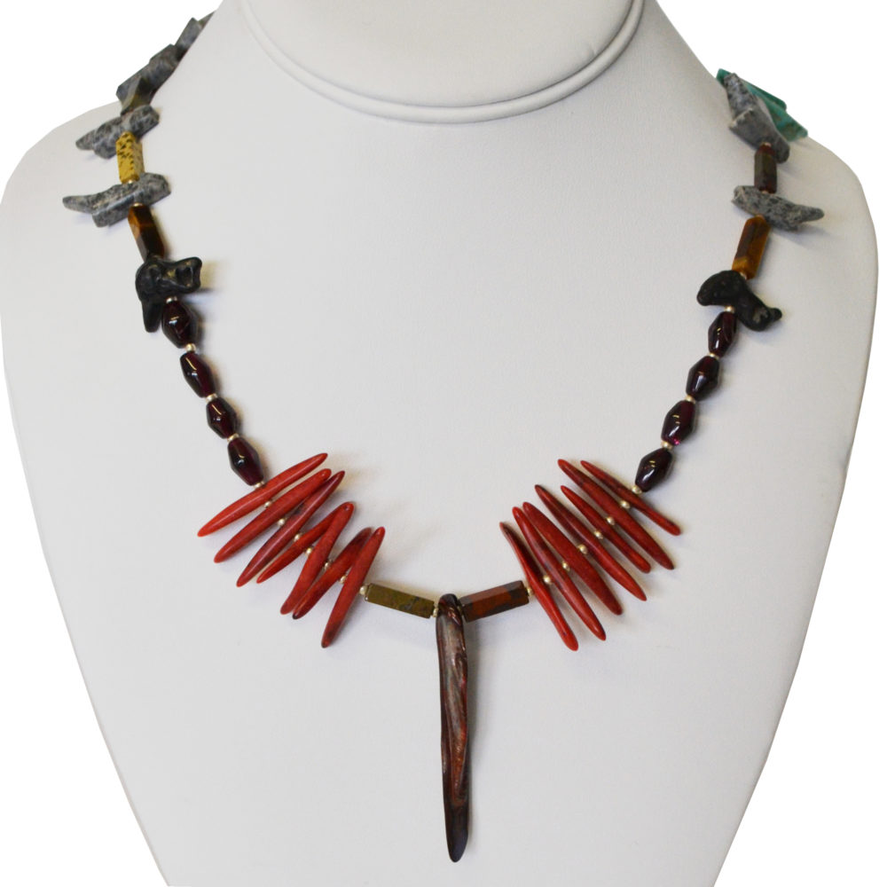 Coral and stone necklace by Giovanni Ricci