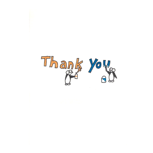 Guins Thank You card